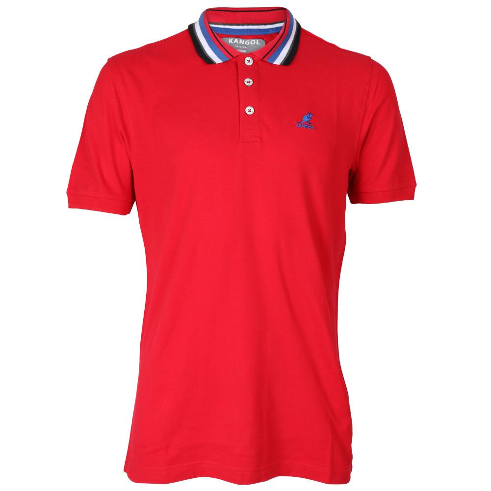 New kangol leiston mens short sleeve top collared polo for Plus size golf polo shirts