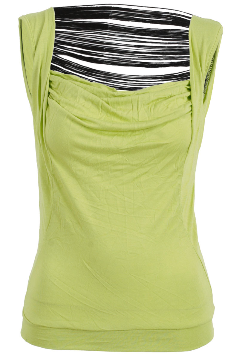NEW-RELIGION-WOMENS-LIME-GREEN-SLEVELESS-TASSEL-BACK-LADIES-CASUAL-TOP-SIZE-8-14