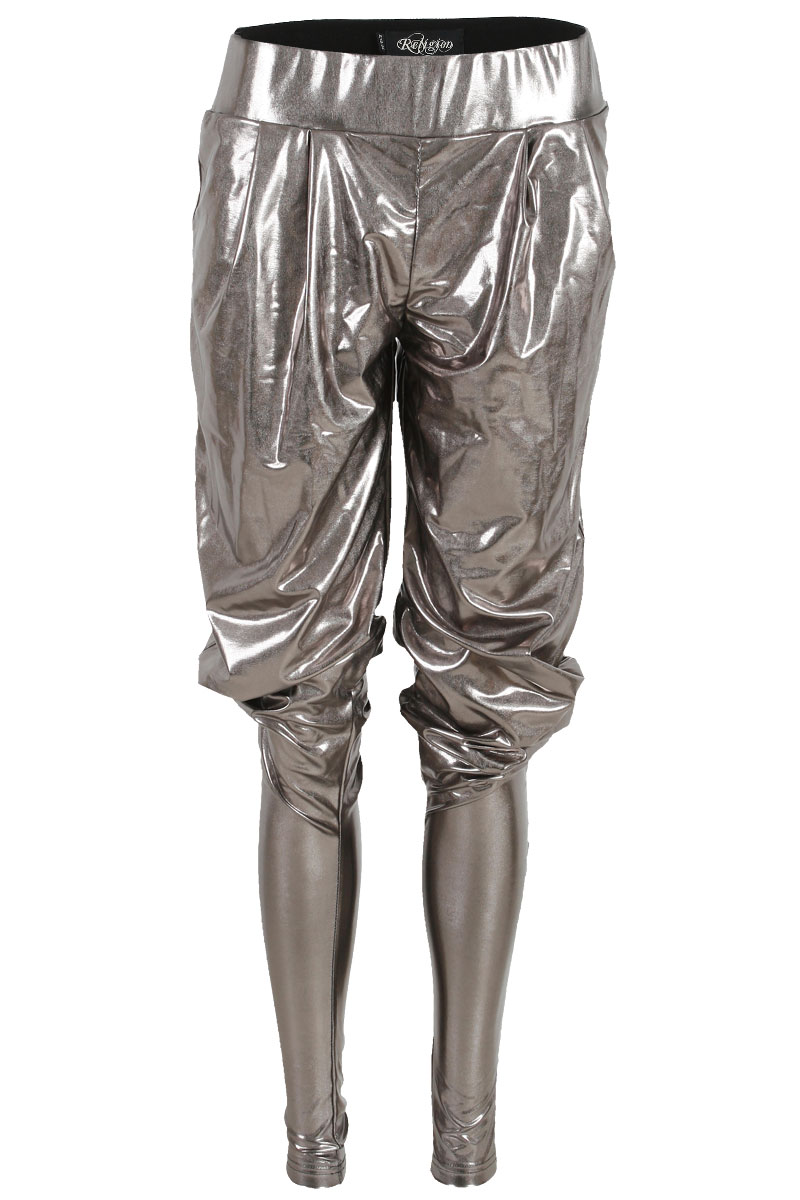 RELIGION-WOMENS-GUN-METAL-GREY-HAREM-PANTS-LADIES-TAPERED-TROUSERS-SIZE-8-14-UK