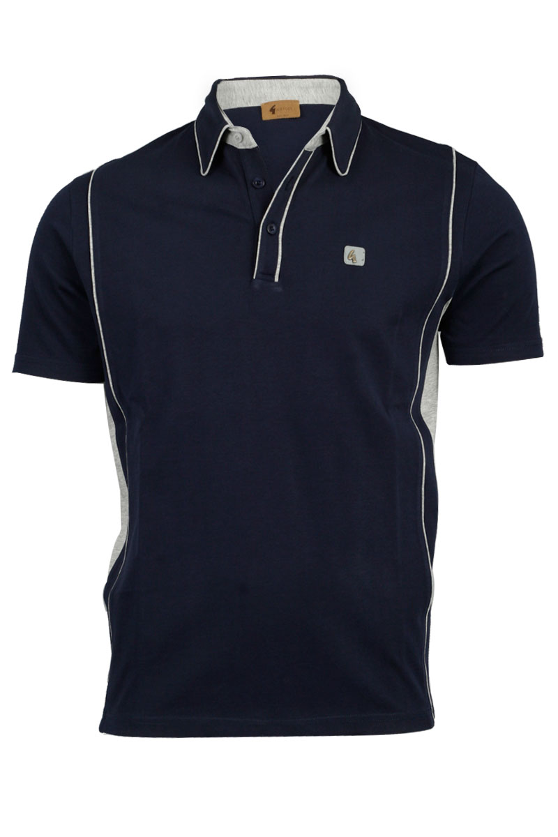 NEW-MENS-NAVY-GABICCI-DESIGNER-COLLARED-NECK-BUTTONED-UP-T-SHIRT-TOP-SIZE-S-XXL