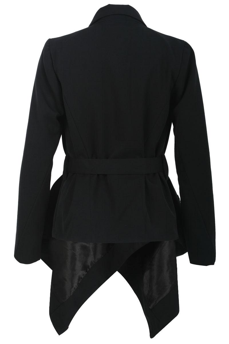 RELIGION-CLOTHING-LADIES-BLACK-POINTED-HEM-LONG-SLEEVE-WOMENS-JACKET-SIZE-8-14