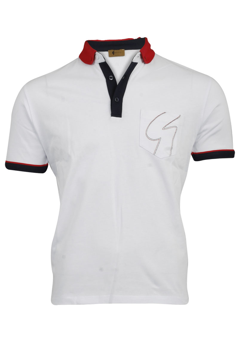 NEW-MENS-WHITE-GABICCI-DESIGNER-COLLARED-NECK-BUTTONED-UP-T-SHIRT-TOP-SIZE-S-XXL