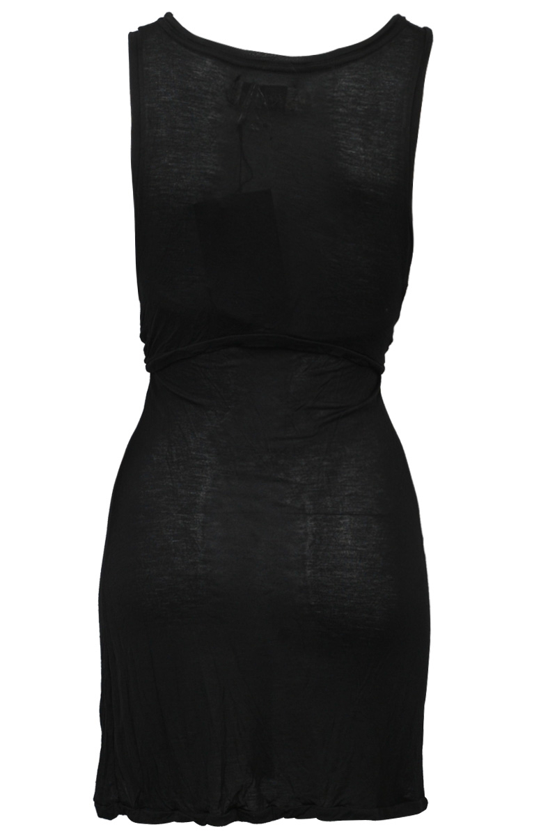 NEW-RELIGION-LADIES-JET-BLACK-PRINTED-WOMENS-HALTERNECK-JERSEY-DRESS-SIZE-6-14