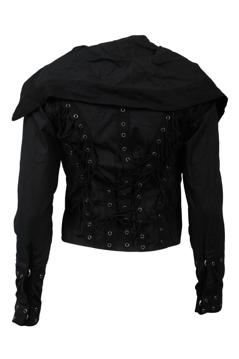 RELIGION-CLOTHING-NEW-LADIES-JET-BLACK-WOMENS-STUDDED-CORSET-JACKET-SIZE-6-14-UK