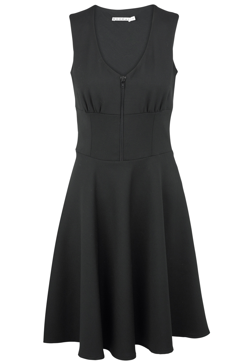 WOMENS-BLACK-KOOKAI-SMART-ZIP-EVENING-DRESS-SIZE-6-16