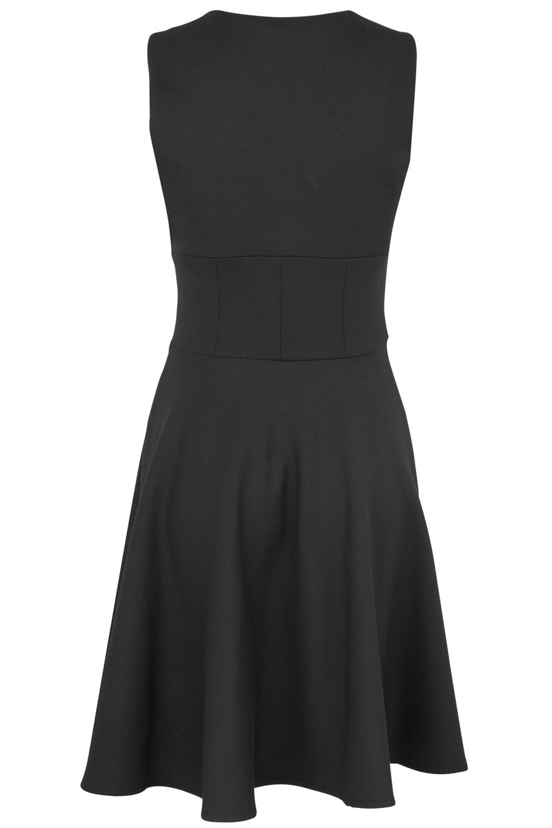 WOMENS-BLACK-KOOKAI-SMART-ZIP-EVENING-DRESS-SIZE-6-16