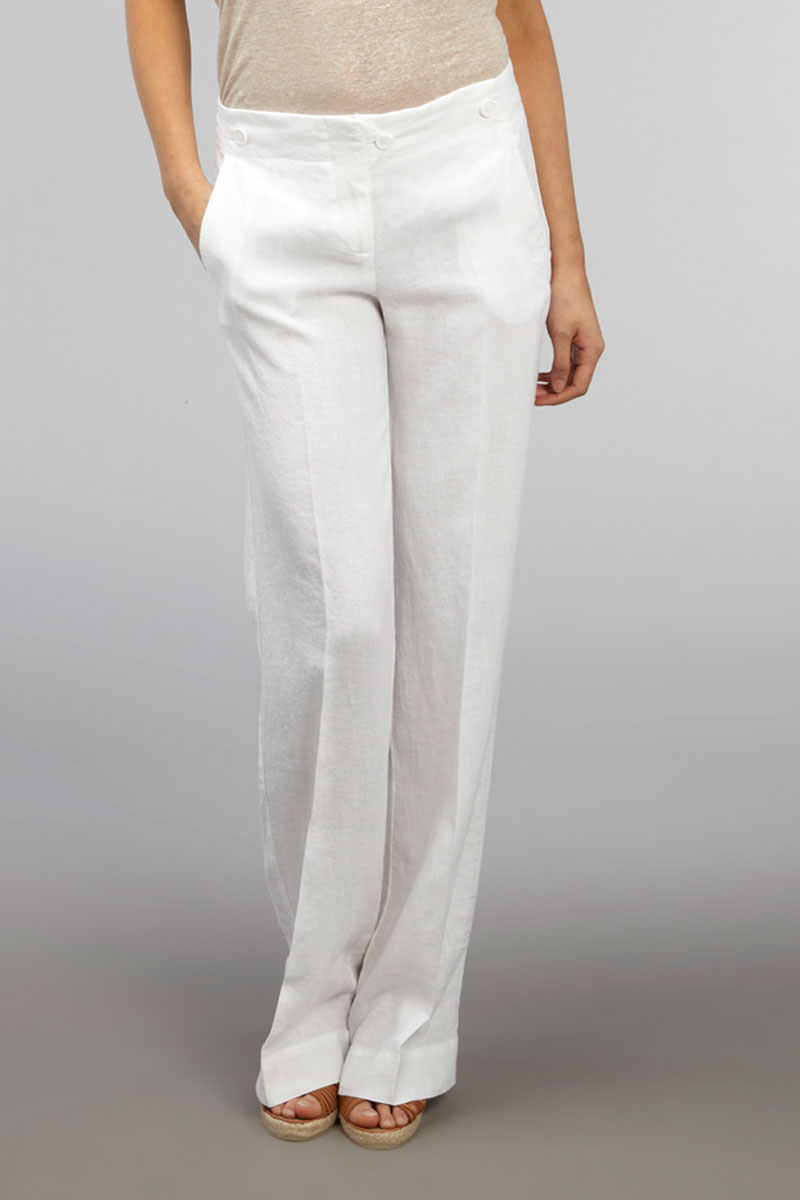 Simple Theyve Replaced Black Pants As The Goeswithanything Option, And Women Are Sporting Them With Style White Linen Pants Are Being Paired With Jackets For The Workplace, Tank Tops For Saturday Luncheons And Slinky Tops For Nights On