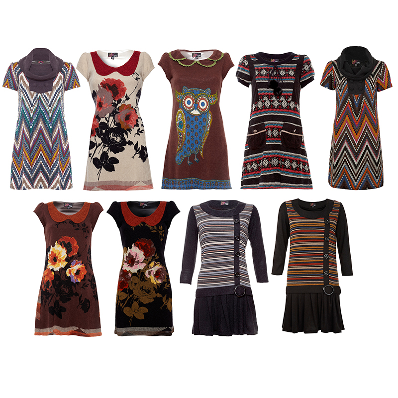 NEW YUMI WOMENS PRINTED LADIES KNITTED SLEEVED CASUAL TUNIC ...
