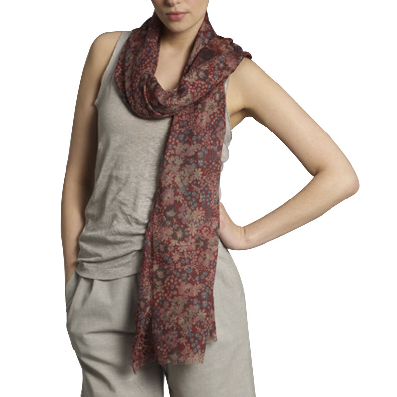 NEW-WOMENS-KOOKAI-RED-DITSY-FLORAL-SAFARI-PRINT-WRAP-LADIES-LONG-SCARF-ONE-SIZE