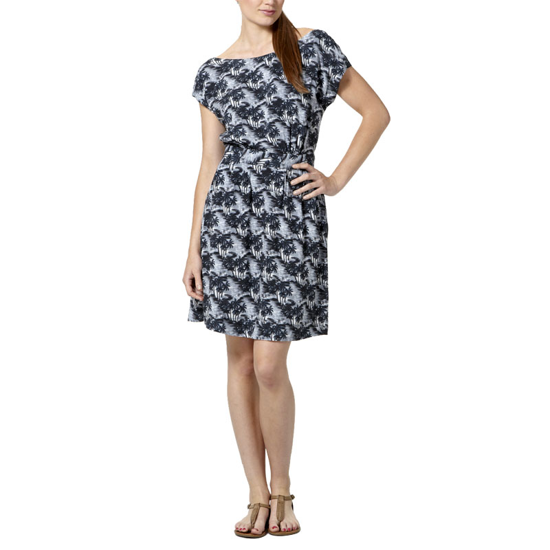 LADIES-GREY-KOOKAI-TROPICAL-PRINT-OPEN-BACK-50-039-S-WOMENS-SUMMER-DRESS-SIZE-6-16