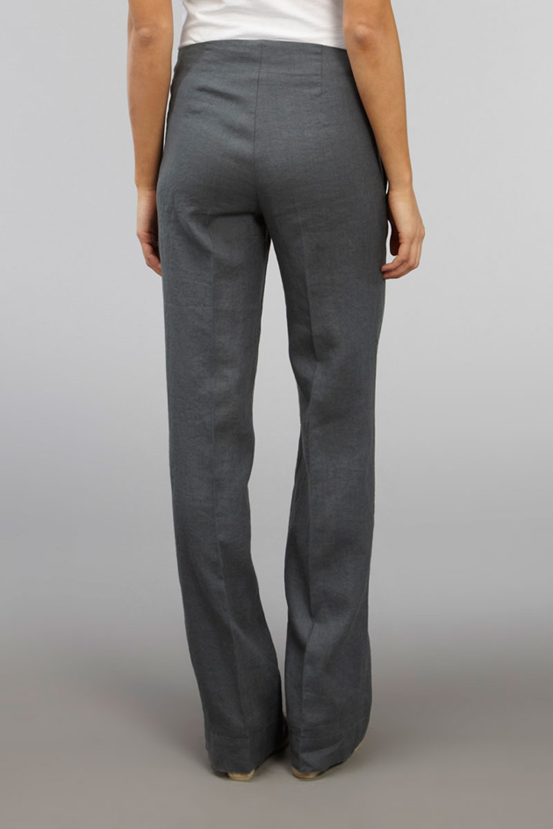 Beautiful Larry Levine Women39s Grey Dress Pants  13188234  Overstockcom