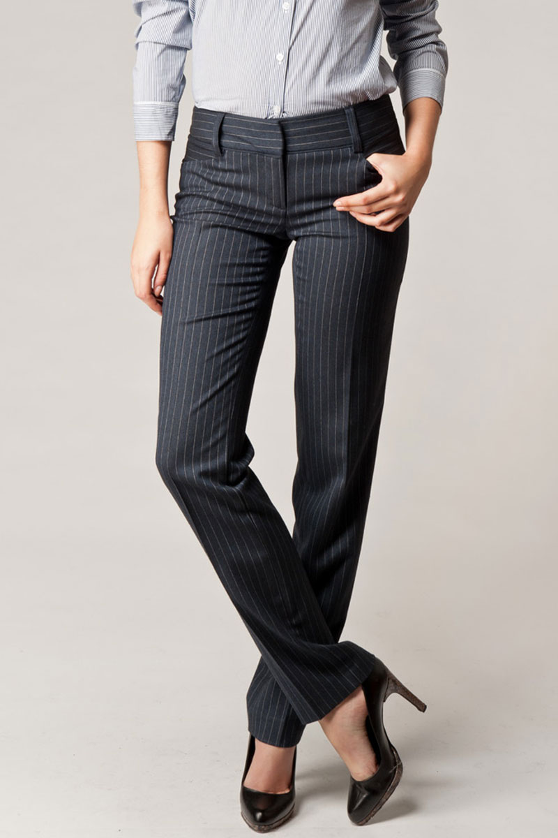 KOOKAI-NEW-WOMENS-NAVY-BLUE-PINSTRIPED-TAILORED-SMART-FORMAL-TROUSERS-SIZE-6-16