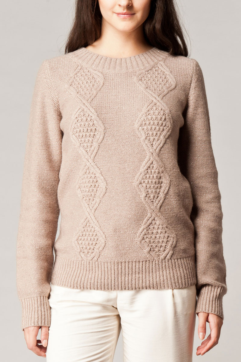 WOMENS-KOOKAI-SAND-CABLE-STITCH-LUREX-SWEATER-LONG-SLEEVED-JUMPER-SIZE-6-16-UK