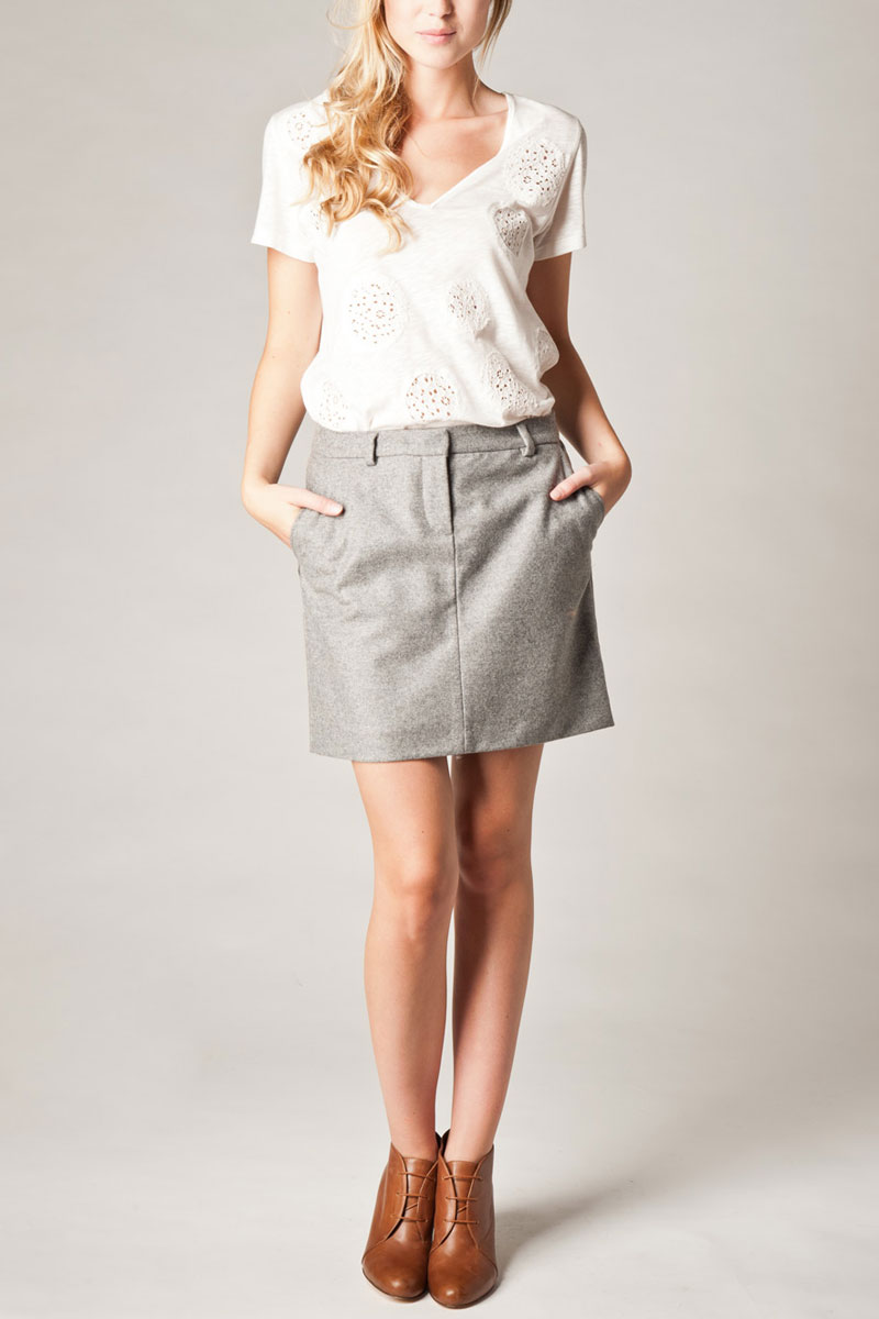 LADIES-NEW-KOOKAI-GREY-TAILORED-KNITTED-WOMENS-WOOL-MINI-FORMAL-SKIRT-SIZE-6-16