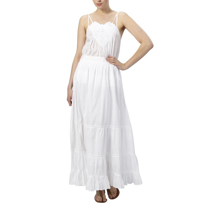 Original  About Womens Full Length Denim Skirt Dark Wash Maxi Long Skirt 94