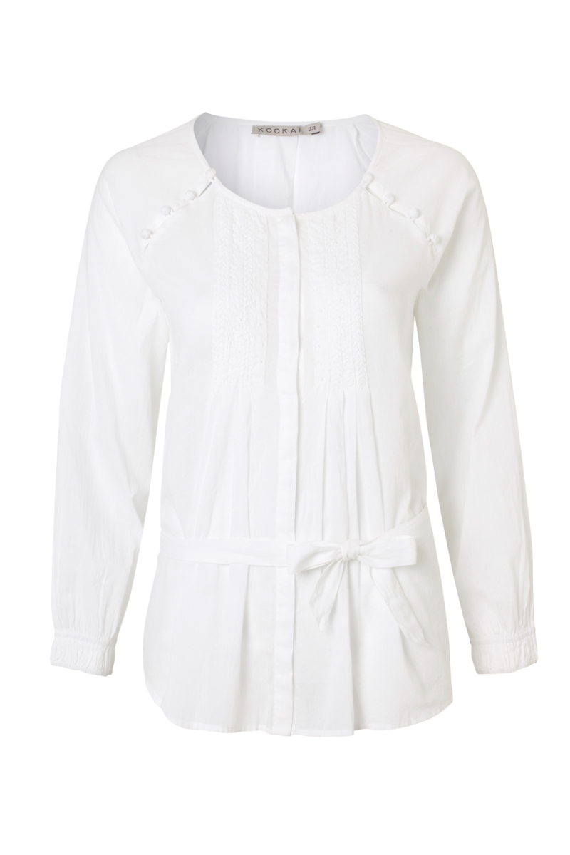 NEW-KOOKAI-WOMENS-WHITE-LONG-SLEEVED-LADIES-BUTTON-TRIM-BLOUSE-TOP-SIZE-6-16-UK