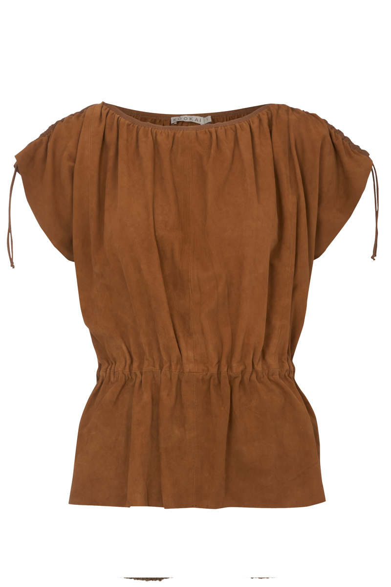KOOKAI-WOMENS-BROWN-SUEDE-TUNIC-LADIES-TOP-SIZES-6-16