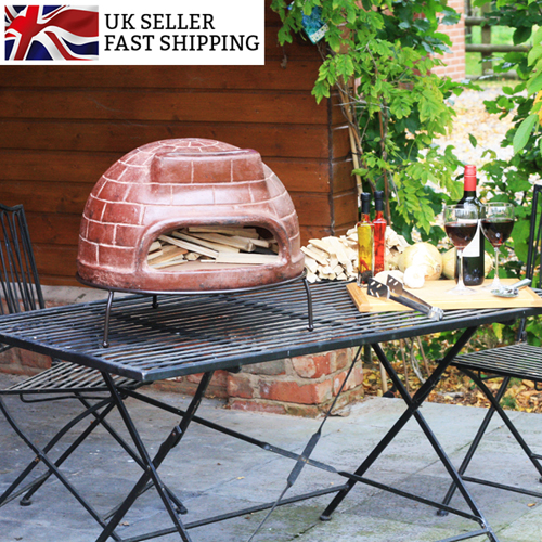 Clay Outdoor Ovens : Classic garden outdoor wood fired pizza ovens stone