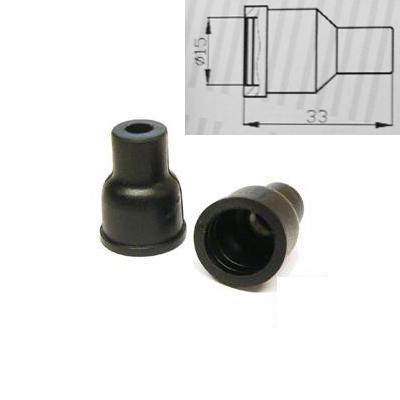 4x ht silikon pvc f r verteiler kappe 7mm gerade schwarz. Black Bedroom Furniture Sets. Home Design Ideas