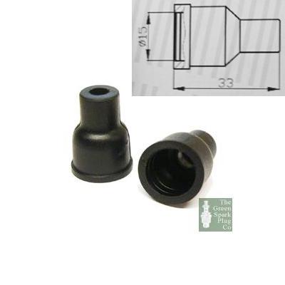 10x HT Silicone PVC insulators for distributor cap - 7mm Straight Black
