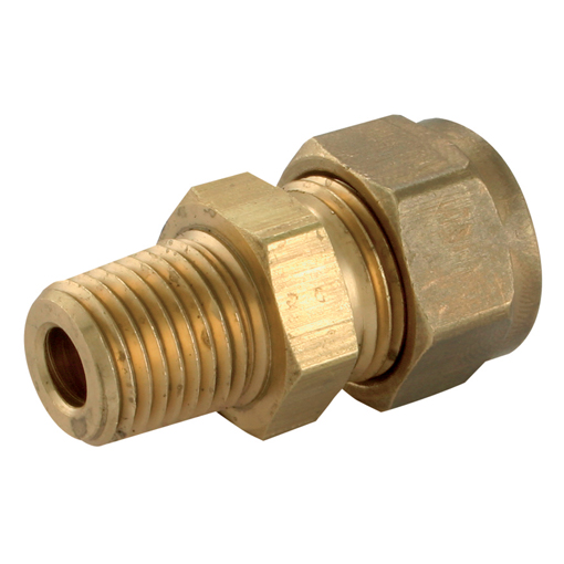 Wade brass compression fittings quot od npt male