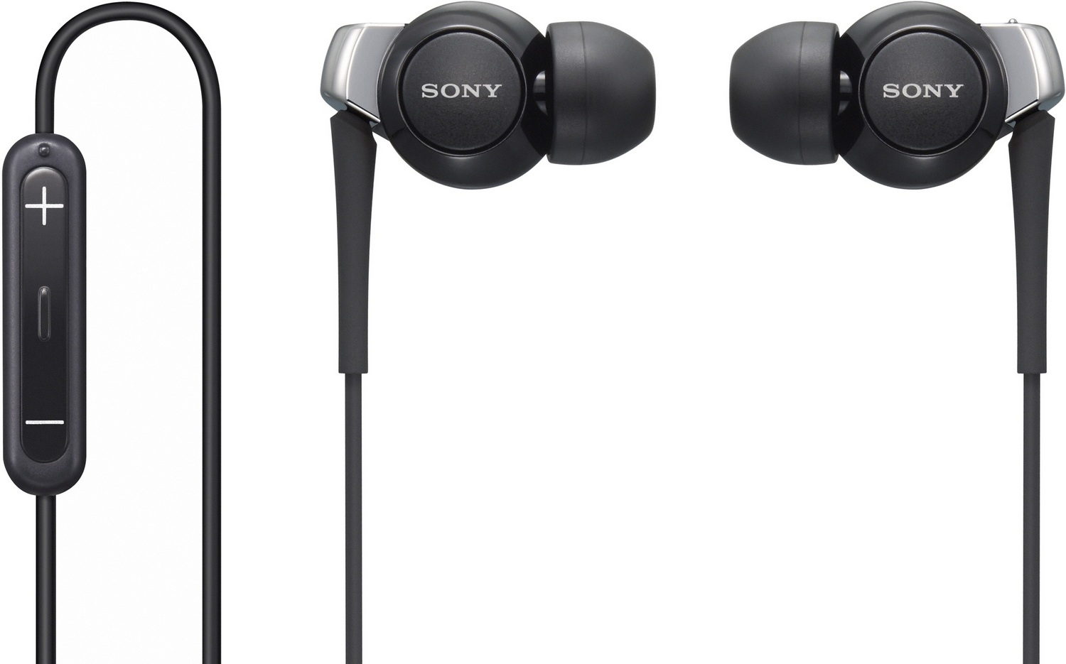 Sony DREX300IPB In-Ear Headphones For Iphone Ipod PC With Mic Remote Black New