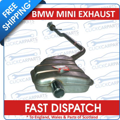 bmw mini cooper 1 6 hatchback exhaust rear back box silencer ebay. Black Bedroom Furniture Sets. Home Design Ideas