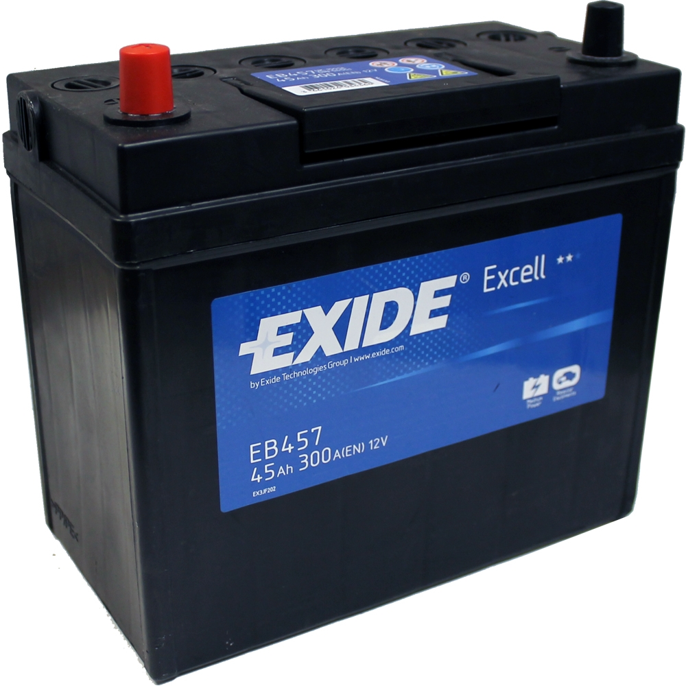 toyota yaris 1 0 1999 exide excell 3 yr warranty car battery 45ah eb457 ebay