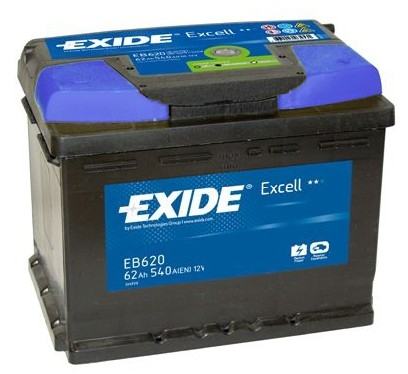 exide excell car battery type 027 3 year warranty eb620. Black Bedroom Furniture Sets. Home Design Ideas