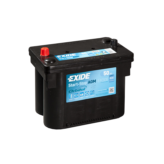 1x Exide Stop Start 50Ah 800CCA 12v AGM Car Battery 4 Year