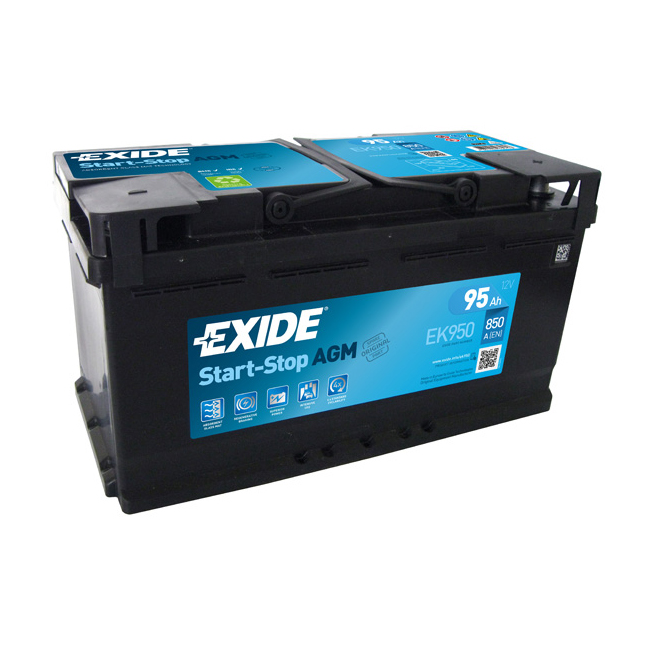 Ek Exide Start Stop Agm Car Battery Ah