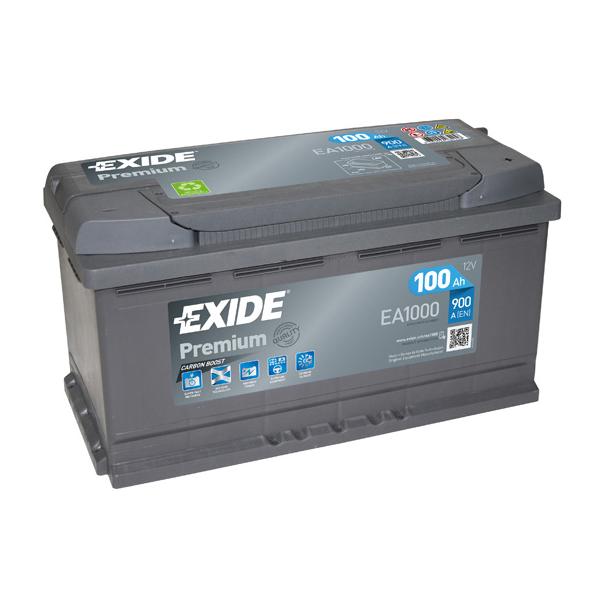 1x exide premium 100ah 900cca 12v type 017 car battery 4 year warranty ea1000 ebay. Black Bedroom Furniture Sets. Home Design Ideas