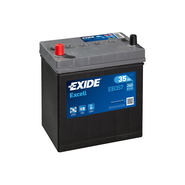 1x Exide Excell 35Ah 240CCA 12v Type 055 Car Battery 3