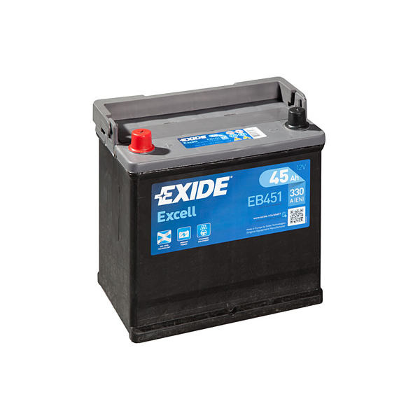 1x Exide Excell 45Ah 330CCA 12v Type 049 Car Battery 3