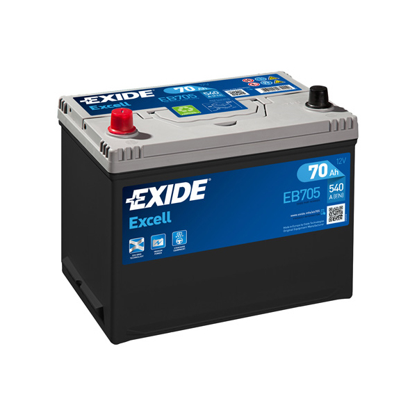1x Exide Excell 70Ah 540CCA 12v Type 031 Car Battery 3