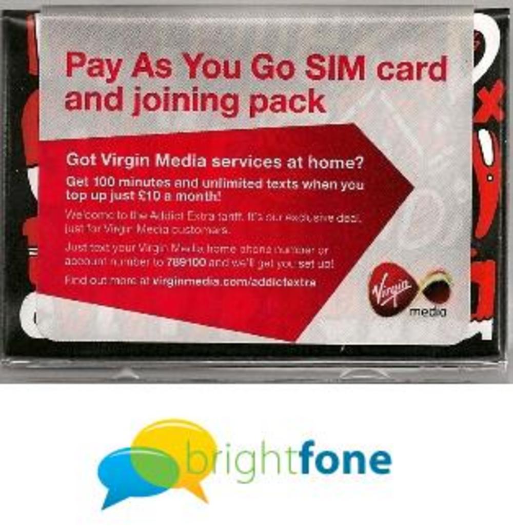 Virgin mobile phone cards - Lookup BeforeBuying