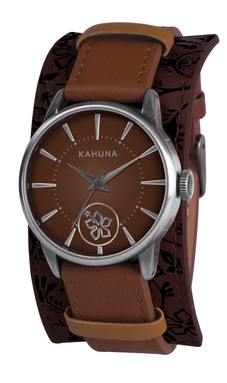kahuna womens brown leather cuff