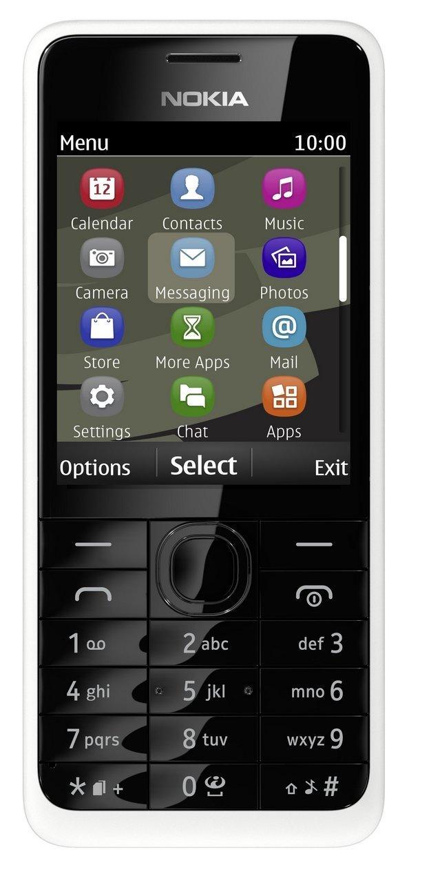 Nokia Asha 301.1 Symbian Smart Mobile Phone Unlocked Sim Free - White