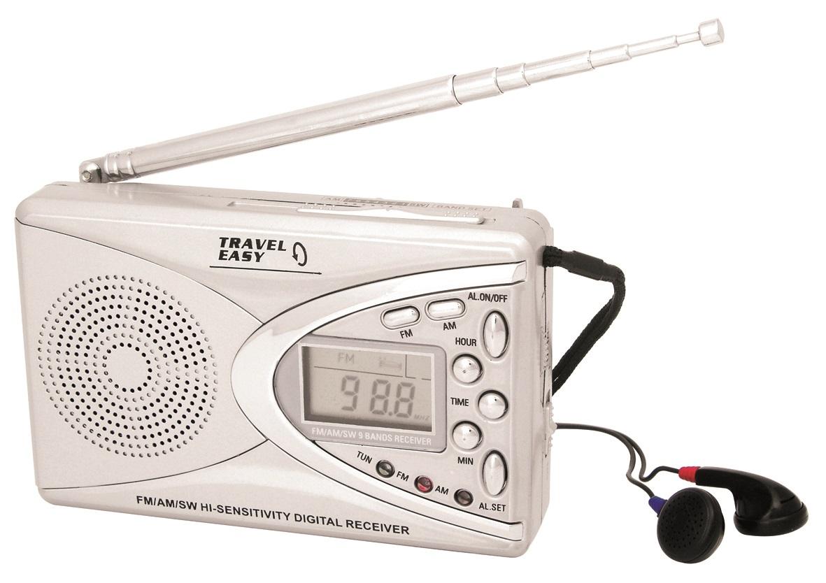 Travel Easy Portable Pocket Worldwide FM AM SW Radio Digital Display 9 Band Case