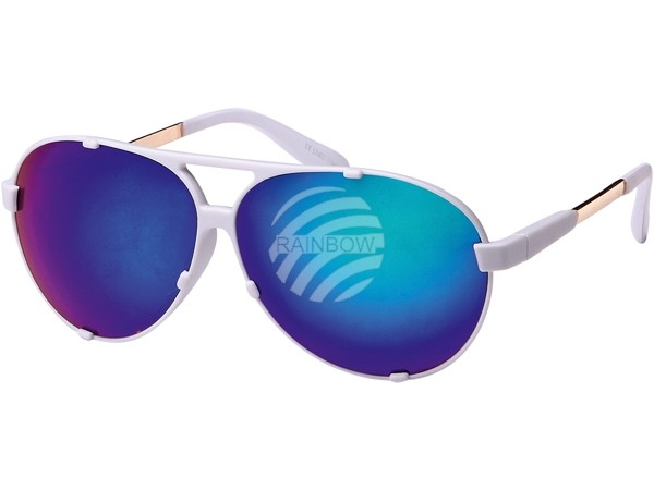 Viper Mens Ladies Aviator Iridium Mirror Sunglasses V1117 Gold Blue Green White