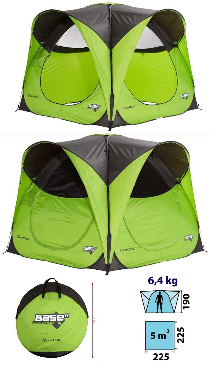 quechua 2 seconds base std in green pop up tent ebay. Black Bedroom Furniture Sets. Home Design Ideas