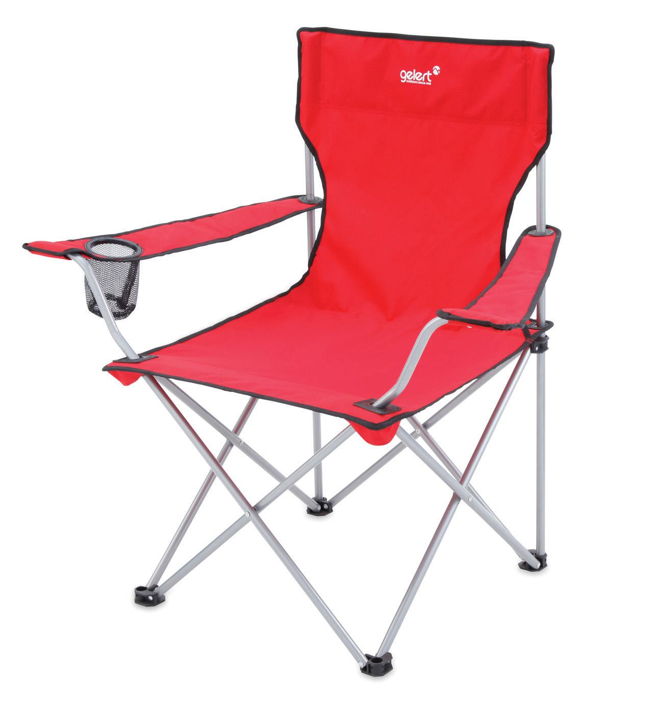 Gelert Tourer Fold Up Camping Executive Directors Chair & Drinks Holder