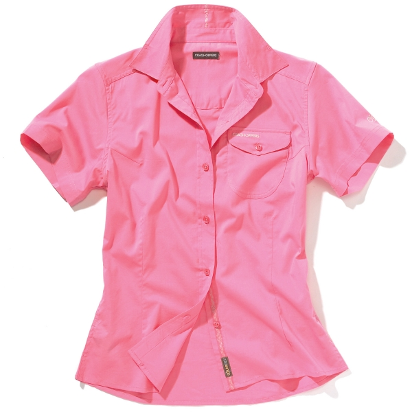 Craghoppers-New-Kiwi-Short-Sleeved-Ladies-Summer-Shirt-Hot-Pink