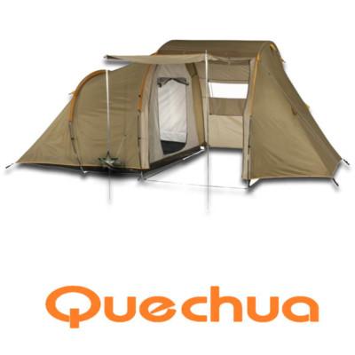 Quechua new t4 1 four man 4 berth camping tent ebay for Living room quechua