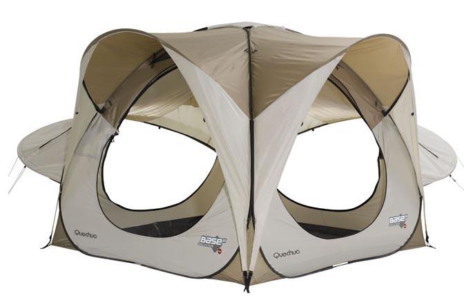 quechua 2 seconds base full four berth 4 man tent popup ebay. Black Bedroom Furniture Sets. Home Design Ideas