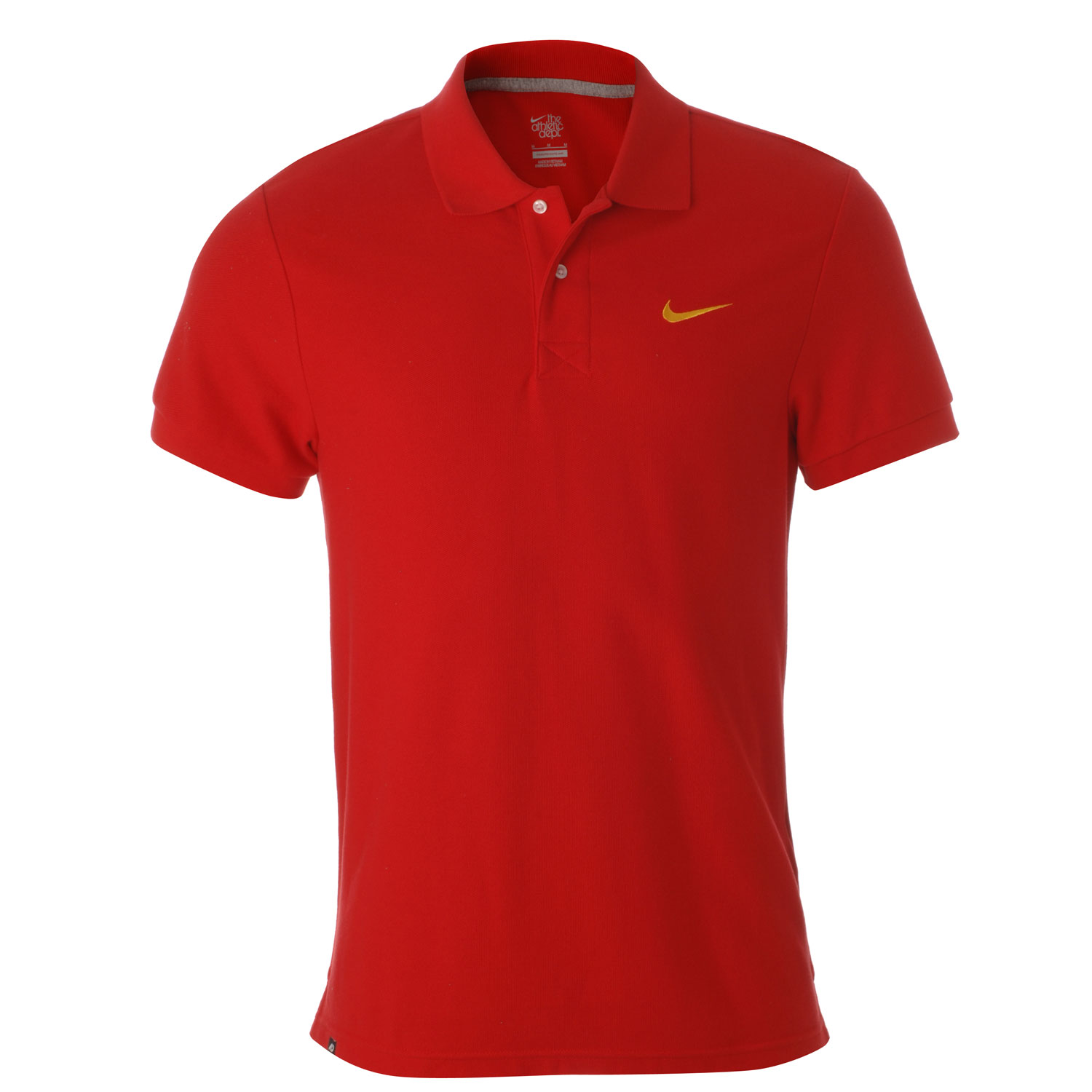 Nike red polo shirt ideal for golf running tennis new with for Yellow golf polo shirts