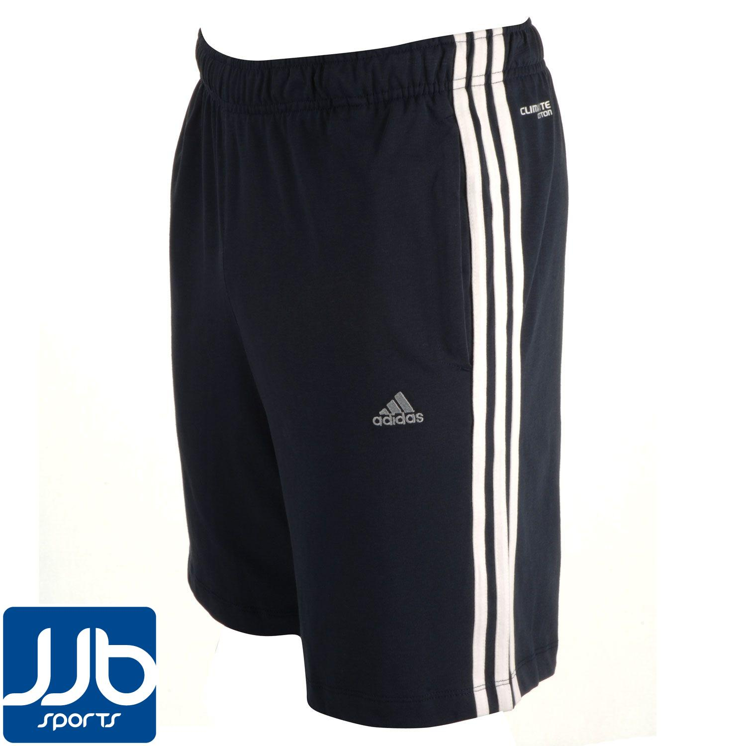 adidas 3 stripe climalite mens short ebay. Black Bedroom Furniture Sets. Home Design Ideas