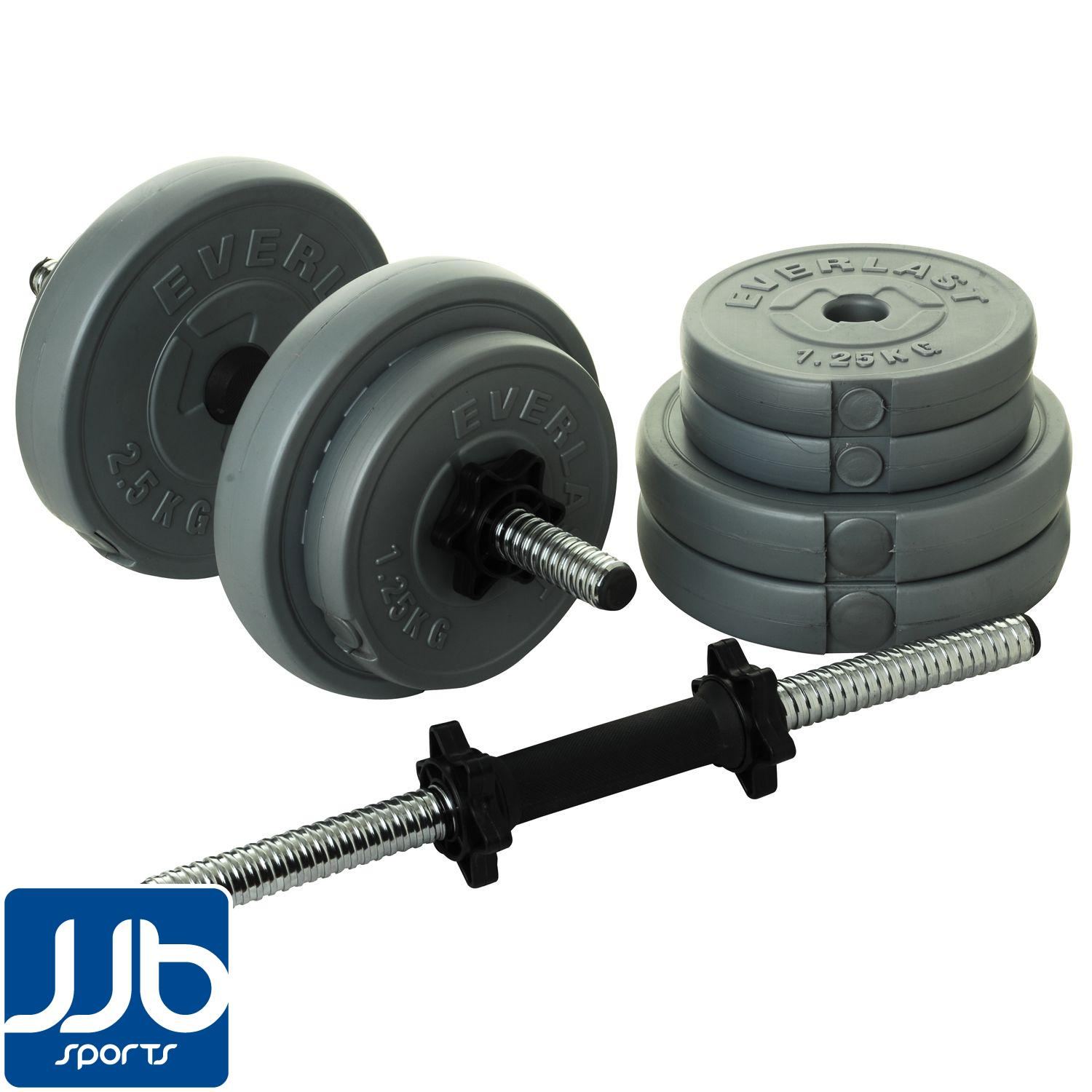 Everlast-15kg-Vinyl-Dumbbell-Set