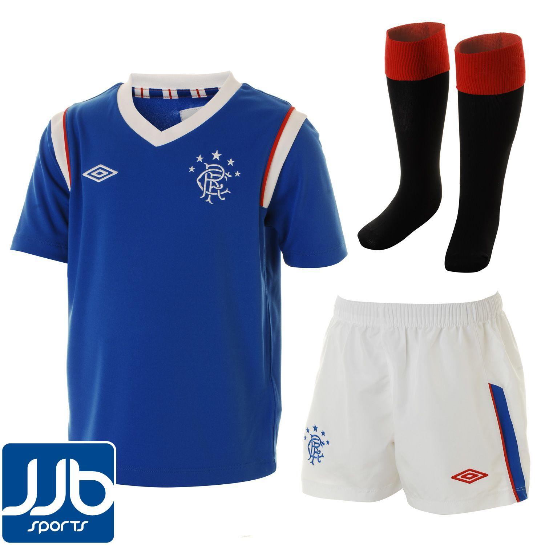 rangers home mini football kit 2011 12 infant ebay. Black Bedroom Furniture Sets. Home Design Ideas