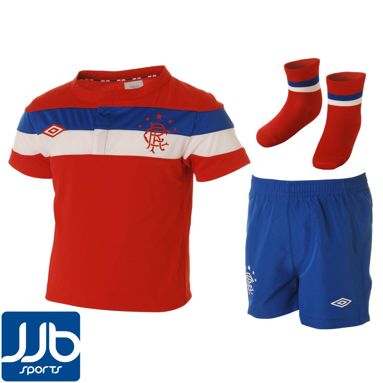 rangers away mini football kit 2011 2012 baby ebay. Black Bedroom Furniture Sets. Home Design Ideas